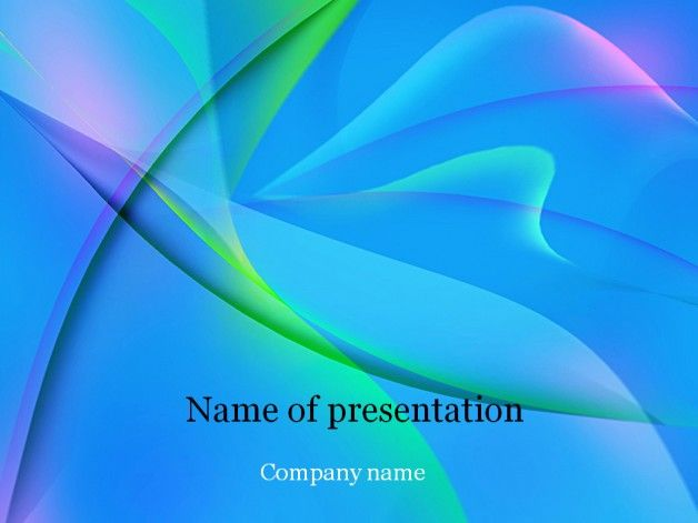 Blue fantasy powerpoint template Templates Free powerpoint