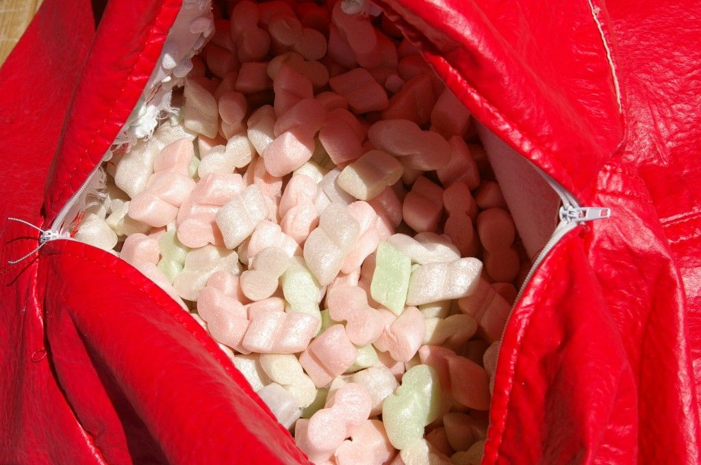 Using Styrofoam Packing Peanuts To Re Fill Bean Bag Chairs