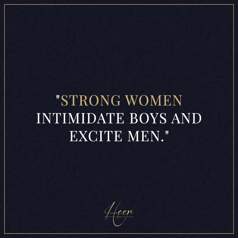 A intimidating makes what woman A Guy