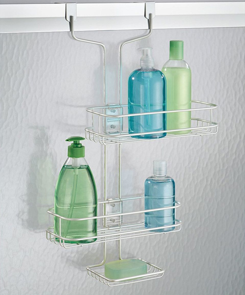 Love this Pearl White Linea Adjustable Over-Door Shower Caddy by ...