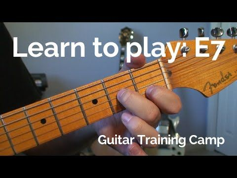 Beginner Guitar Lessons How To Play A E7 Chord Guitar Training