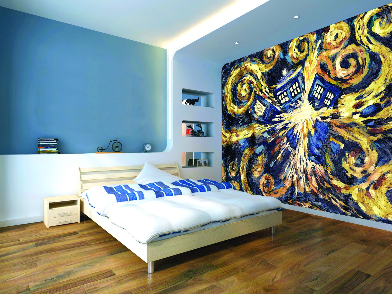 Exploding Tardis Mural wallpaper sticker Doctor Who Bedroom