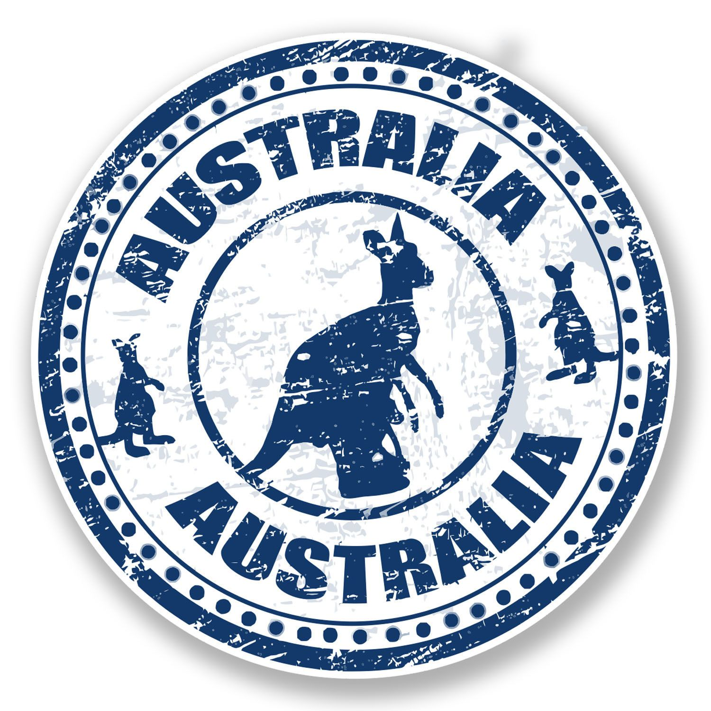 2 X 10Cm Australia Vinyl Sticker Decal Laptop Car Map