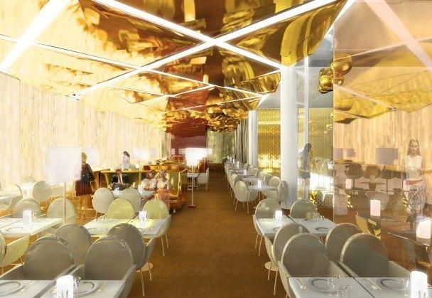 contemporary restaurant designs modern restaurant design gold - Modern Diner Sitzgruppen
