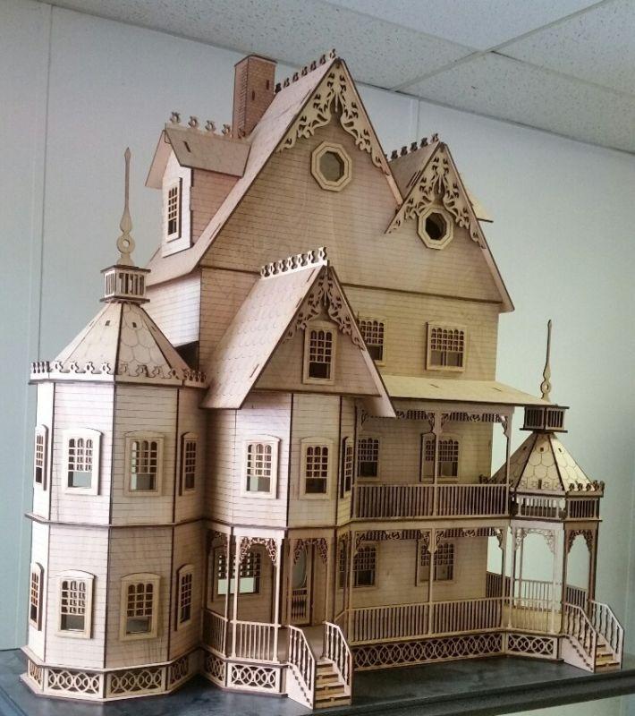 Ashley II Gothic Victorian Mansion Dollhouse Very Large Kit 1:12 ...