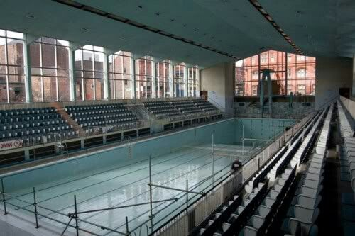 Wigan International Swimming Pool being prepared for demolition