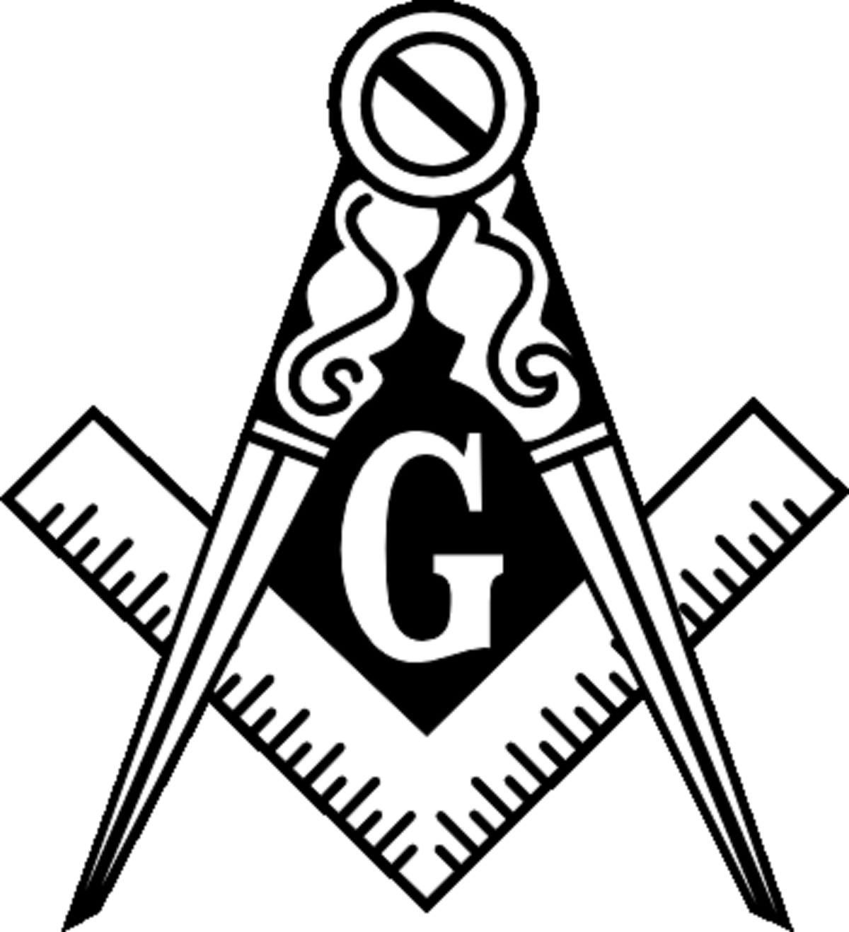 Masonic Square And Compass Logo Clipart Masonic symbols