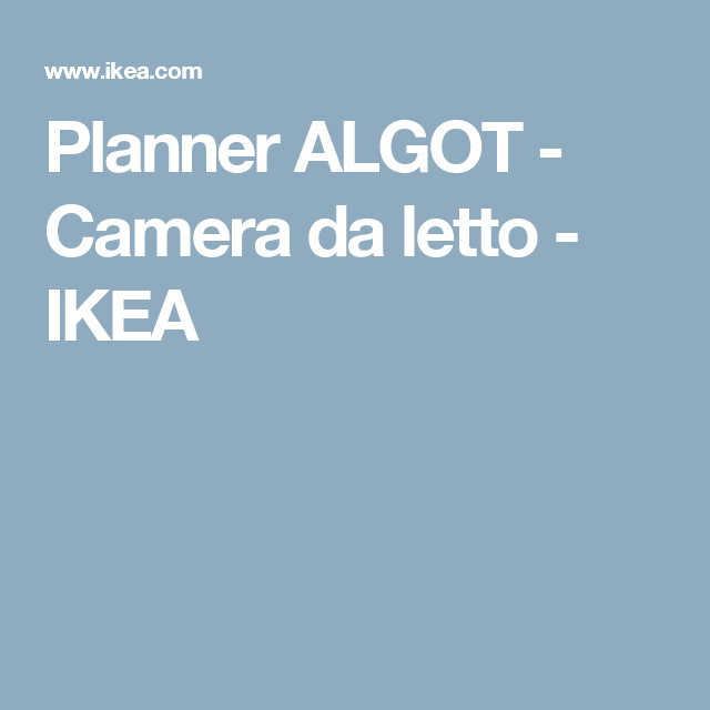 Planner ALGOT - Camera da letto - IKEA | mobili | Pinterest ...
