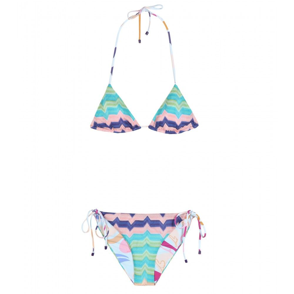 Missoni Mare - Printed bikini - Rely on Missoni Mare's stunning swimwear for a little getaway glamour. This lightweight triangle design is a luggage essential for long days by the pool. seen @ www.mytheresa.com