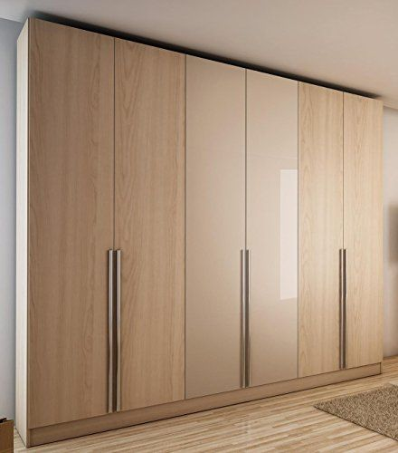 Downtown oak vanilla and stainless steel vertical pull out knobs wardrobe designs popular modern armoire bedroom furniture interior also ahmed bhikhu aabhikhu on pinterest rh