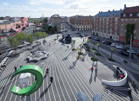 Danish Architecture Firm BIG Has Scattered Miscellaneous Street Furniture  From 60 Different Nations Across A Brightly