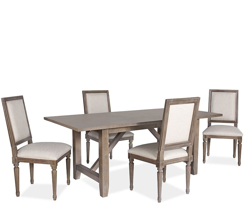 Palmer 5 Piece Dining Set with Flat Back
