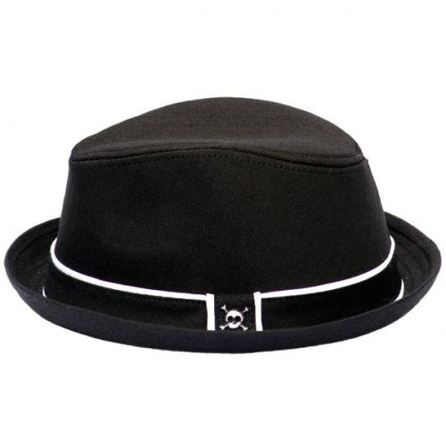 30821c33bc Black Fedora Hat with Skull | Baby / Kids Hats | Black fedora ...