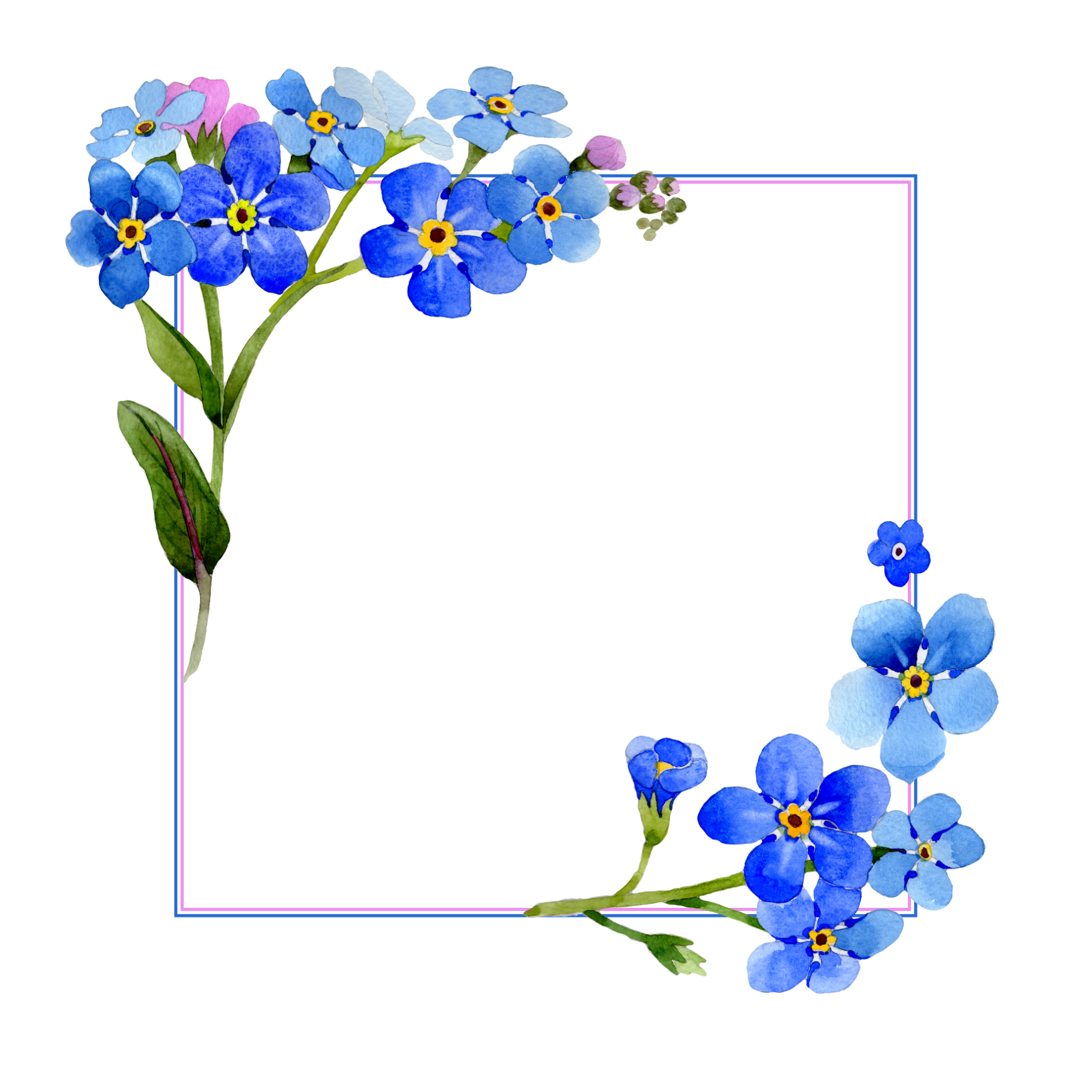 Pin by 2 the moon and back on Picsart Frames Blue flower