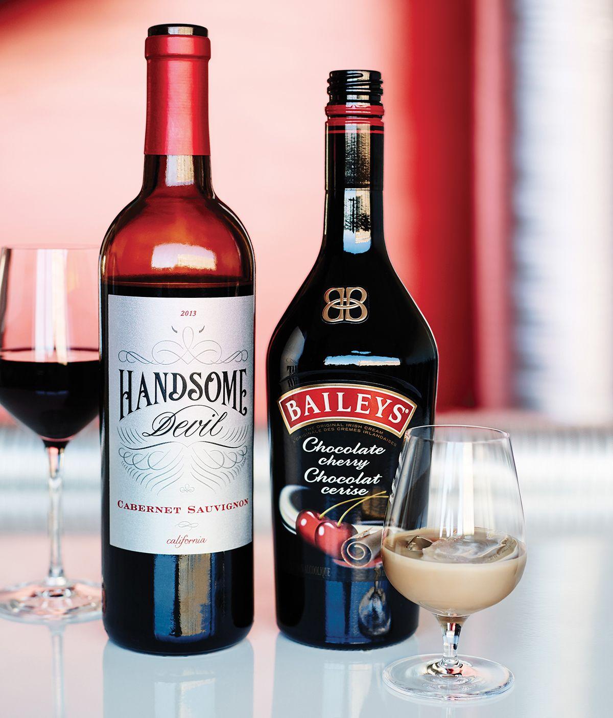 Vin Rouge Handsomedevil Et Baileys Choco Cerise Des Choix Seduisants Drinks Red Wine Alcohol