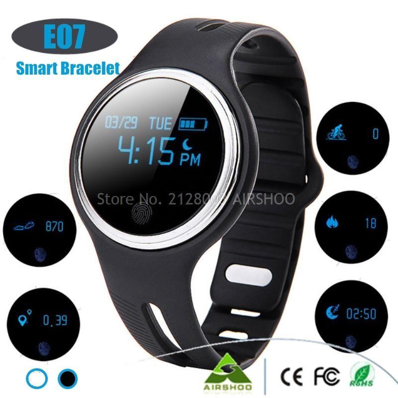 Neue Version E07 Wasserdicht IP67 Smart Armband Bluetooth4 0