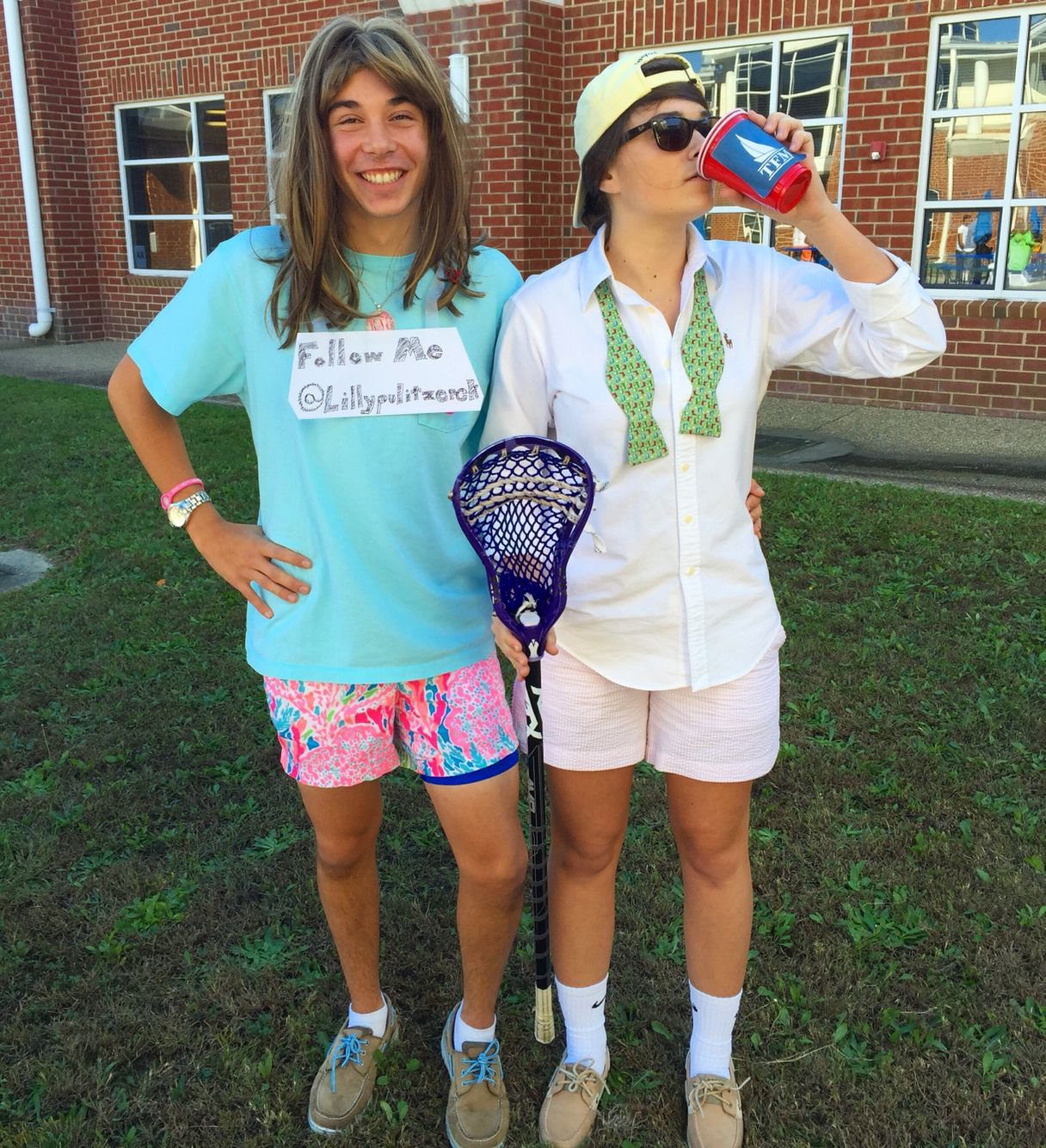 Frat guy and sorority girl Halloween costume// lillypulitzerck  sc 1 st  Pinterest & Frat guy and sorority girl Halloween costume// lillypulitzerck ...
