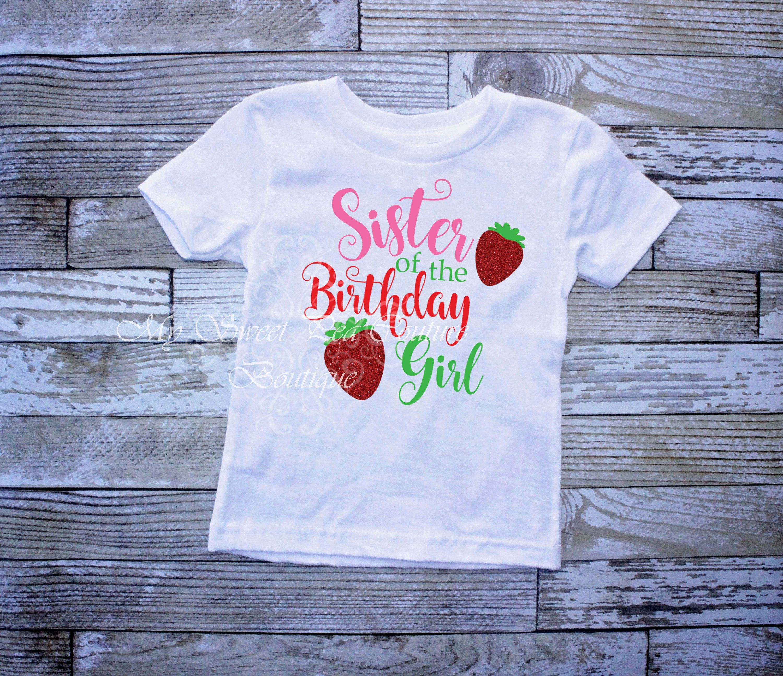 Strawberry Big Sister Shirt Strawberry Short Cake Sister Sibling ...