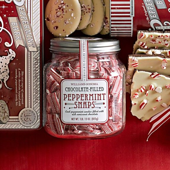 Chocolate Filled Peppermint Snaps Peppermint Bark Cookie