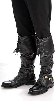 PIRATE BOOT COVERS shoe cover renaissance medieval mens womens halloween  costume