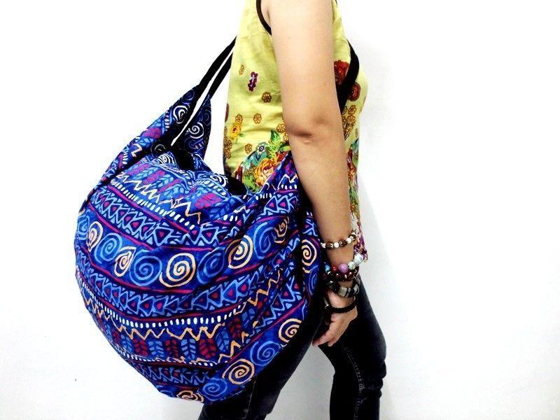 COOL! PRINT TRAVEL UNIQUE LARGE BACKPACK SLING SHOULDER BAG THAI TRIP ADVENTURE #Unbranded #ShoulderBag