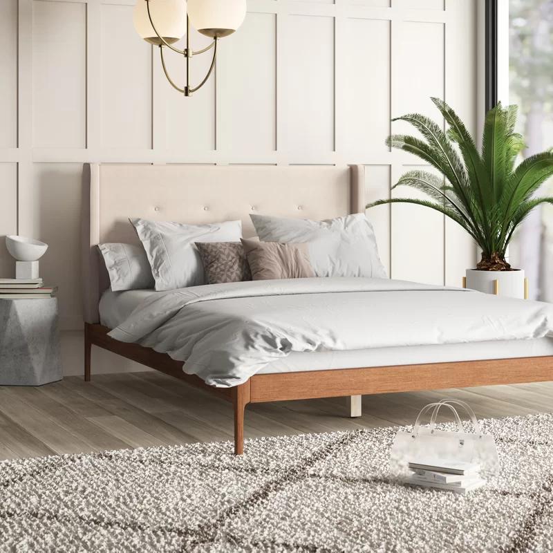 Tessa Upholstered Platform Bed Upholstered Platform Bed Wood