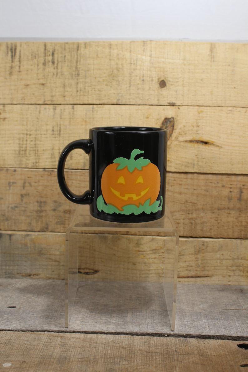 Waechtersbach West Germany Halloween Pumpkin mug 1980's