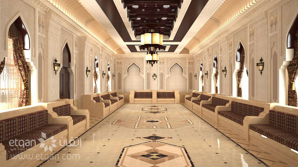 Omani Traditional Majlis Luxury House Interior Design Moroccan