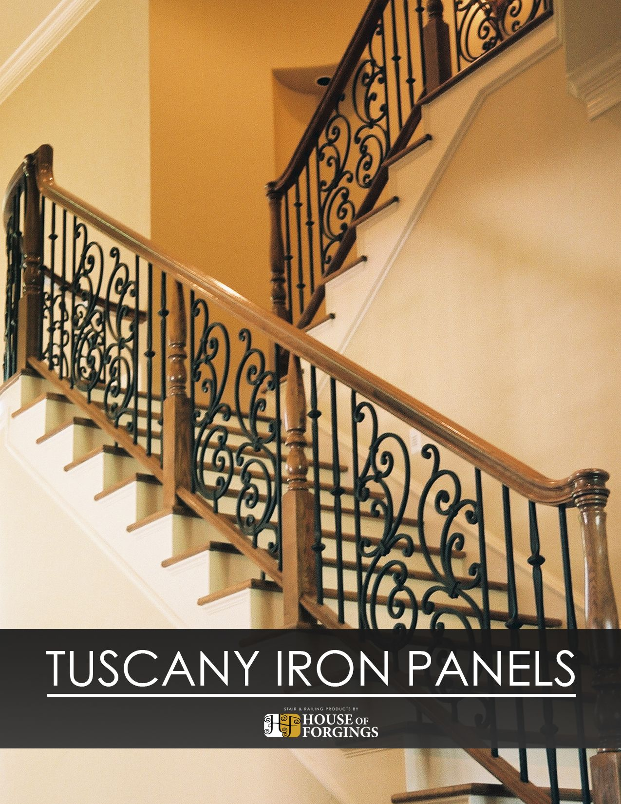 Wrought Iron Panels Are An Excellent Way To Give Your Staircase An Elegant And Custom Look Iron Pa Wrought Iron Stair Railing Stair Railing Iron Stair Railing