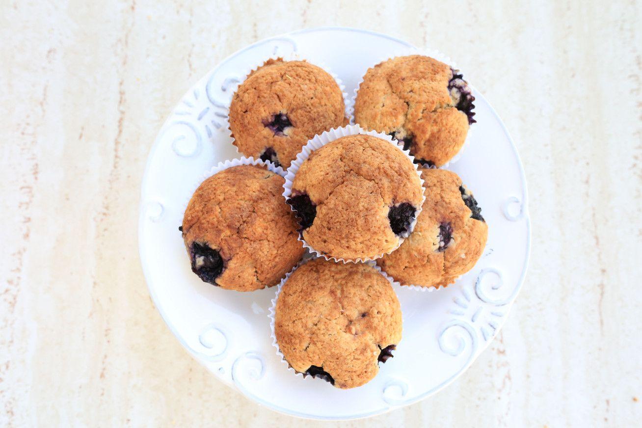 Muffin Funcional De Limao Siciliano Com Blueberry Receita