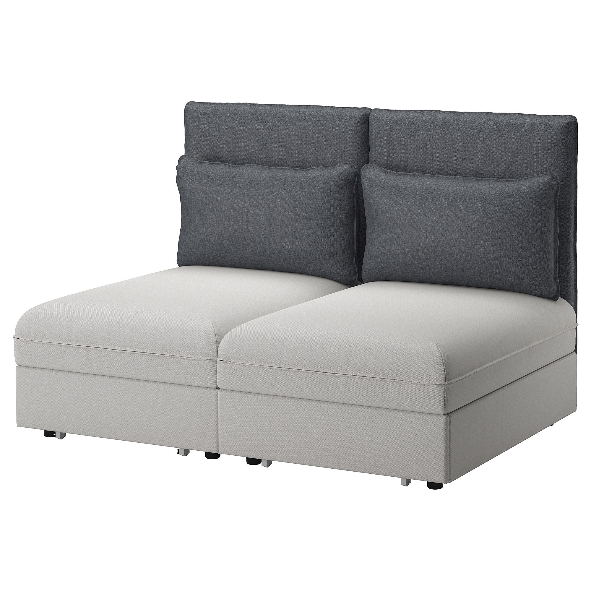 Vallentuna Sleeper Sectional 2 Seat Ikea 63 Inches Wide Folds Out Into 2 Beds 900 Sofa Bed With Storage Vallentuna Cheap Sofas