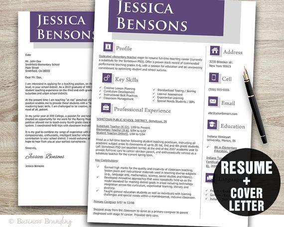 Resume Templates For Teachers Teacher Resume Template Sleek Design  Resumebusinessbranding .