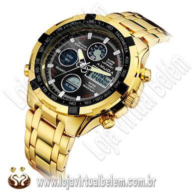 c817391181f Relógio De Luxo Importado De Quartzo Amuda Mutiple Fuso Horário ...