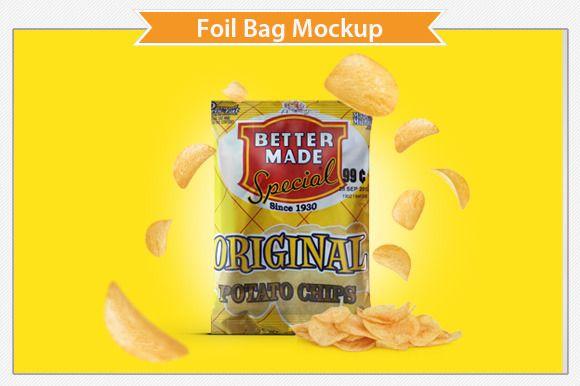 Download Foil Bag Mockup Bag Mockup Mockup Free Psd Presentation Design