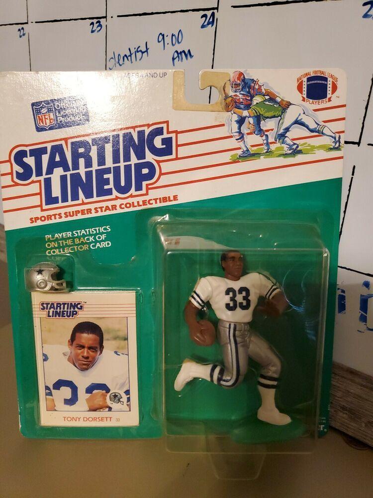 1988 Dallas Cowboy Tony Dorsett Slu Kenner Starting Lineup Football Rare Kenner Tony Dorsett Kenner Slu