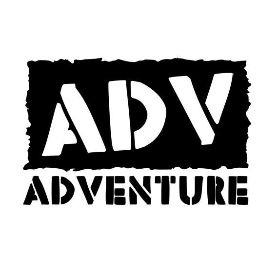 Photo of Adventure ADV Sticker Bumper Sticker Car Truck Jeep Motorcycle Kayak Camping Hiking Mountain Biking Climb Laptop Cooler Coffee Cup Mug