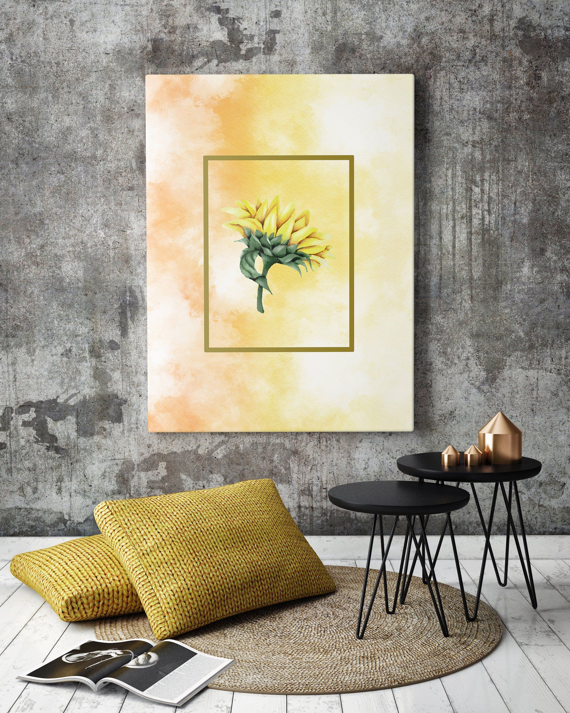 Sunflower print botanical print artistic print home decor office