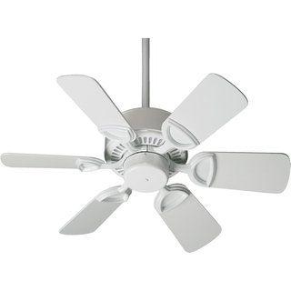 Estate 30 Transitional Ceiling Fan Gloss White Quorum