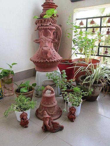 Home Garden Design Ideas India: Vijayalakshmi Krishnan's Terracotta Infused