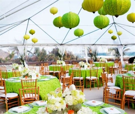 Love bright colours for outdoor summer weddings Outdoor Wedding