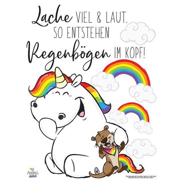 Photo of Bilderwelten Wandtattoo »Pummeleinhorn – Buddy lacht« online kaufen | OTTO