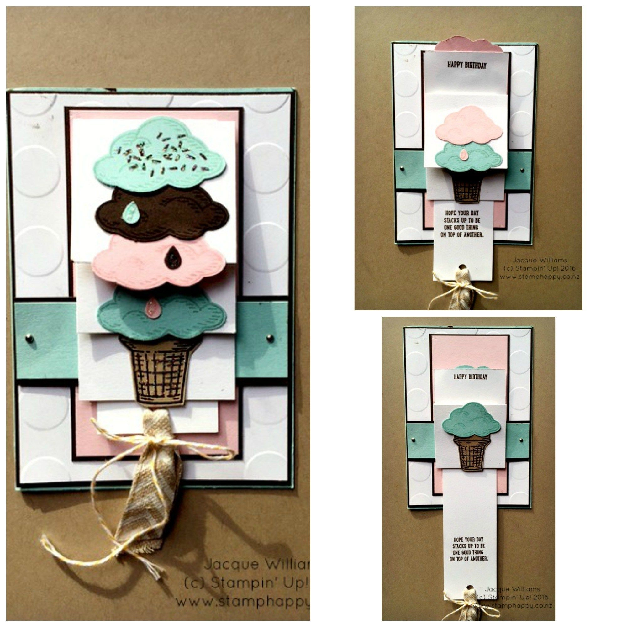 Sprinkles Of Life Waterfall Card Stamp Happy Jacque Williams Stampin Up Demonstrator Waterfall Cards Cards Handmade Card Craft