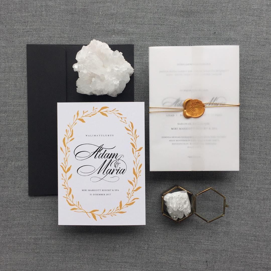 Sealed with 💛 . . . . . Single piece card with velum wrap Size ...