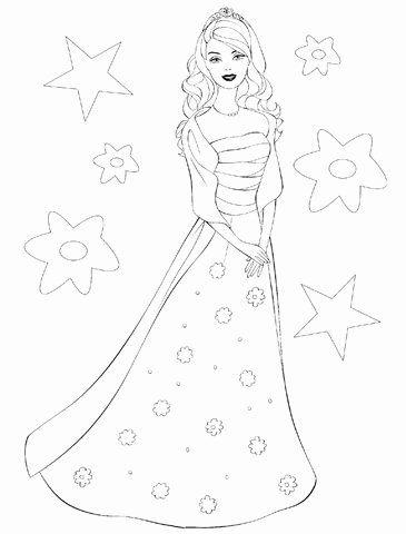 barbie princess coloring page unique barbie princess