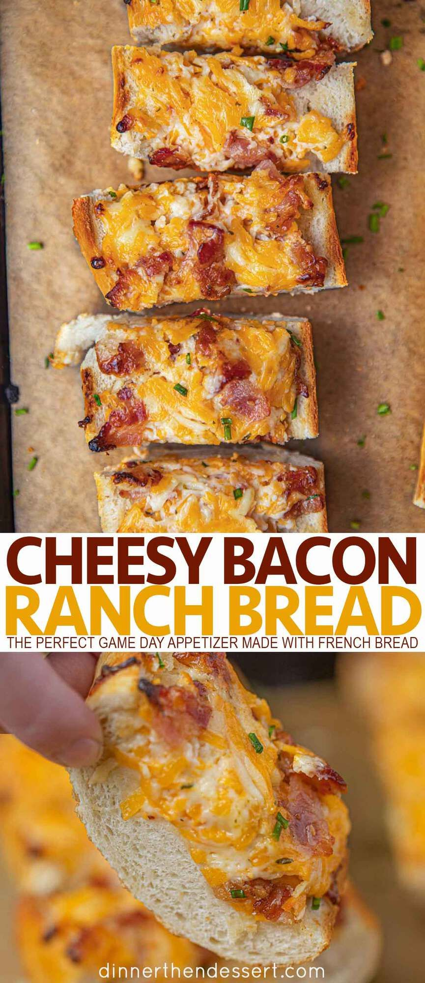 Easy Cheesy Bacon Ranch Bread (Just 15 minutes!) - Dinner, then Dessert