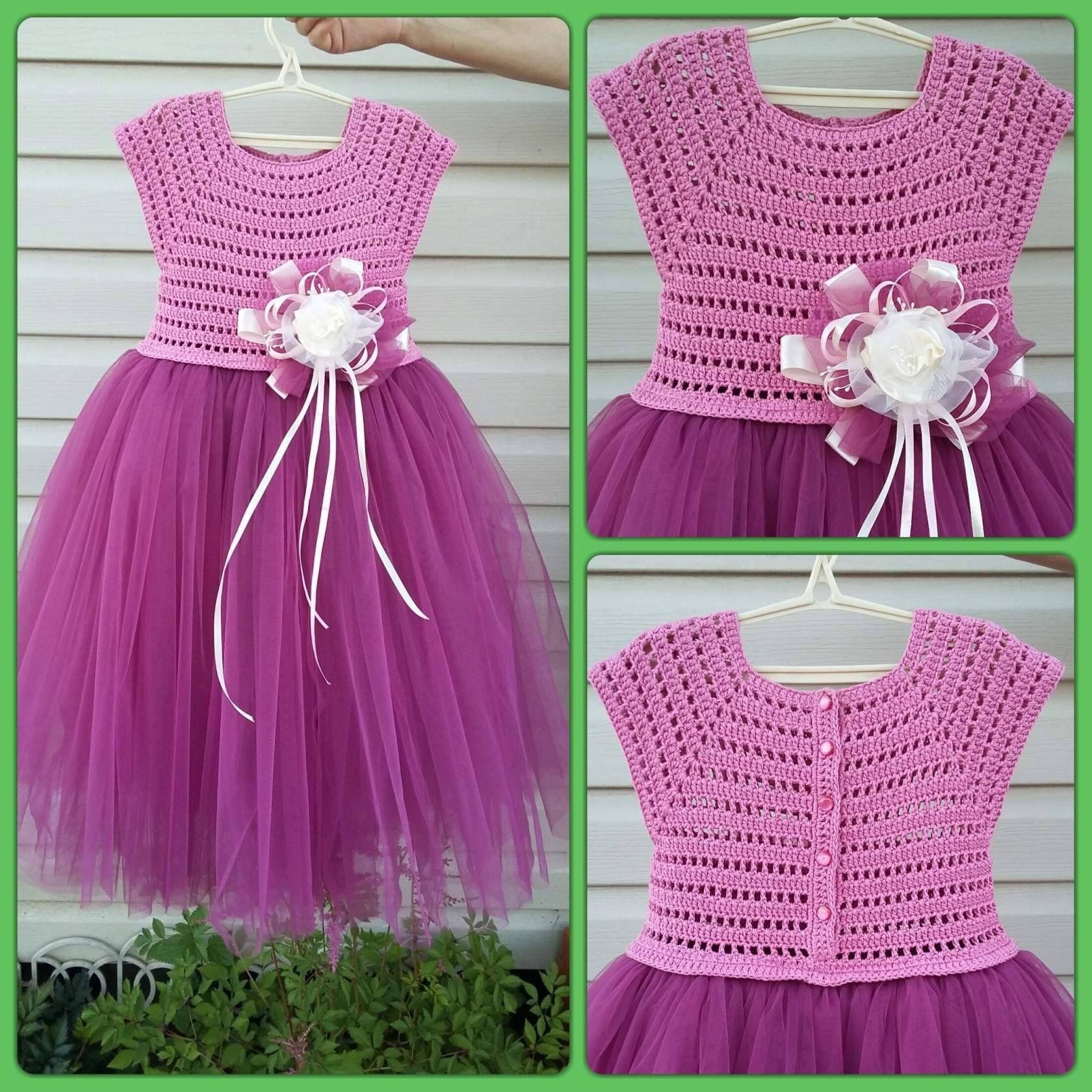 Pin de Rosanna N en Crochet clothes | Pinterest | Vestidos de niñas ...
