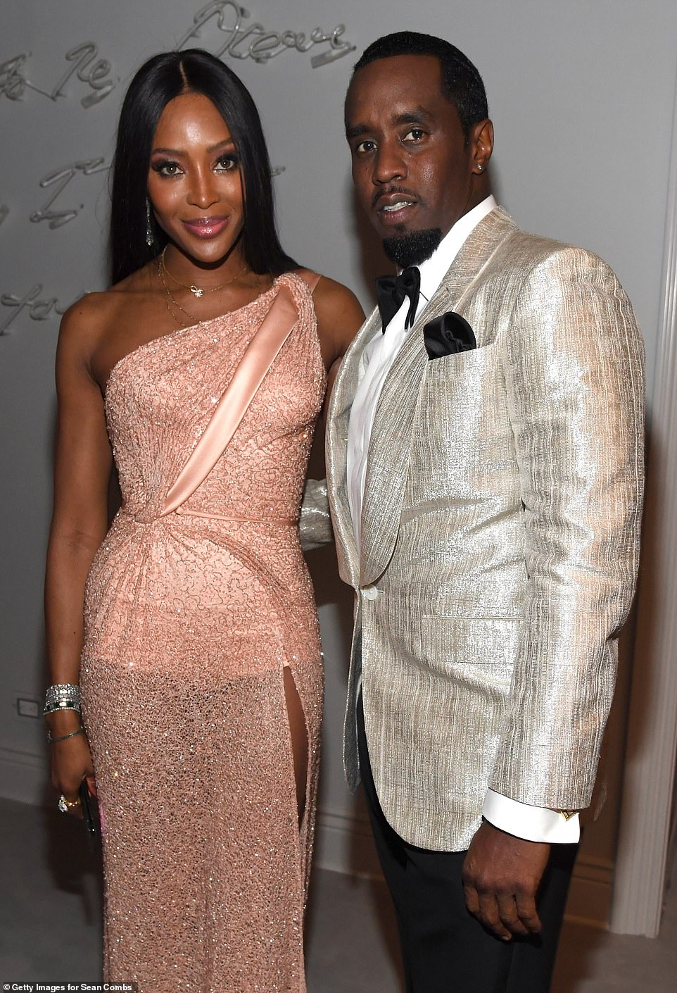 Kim Kardashian leads the glamour at Diddy's belated 50th