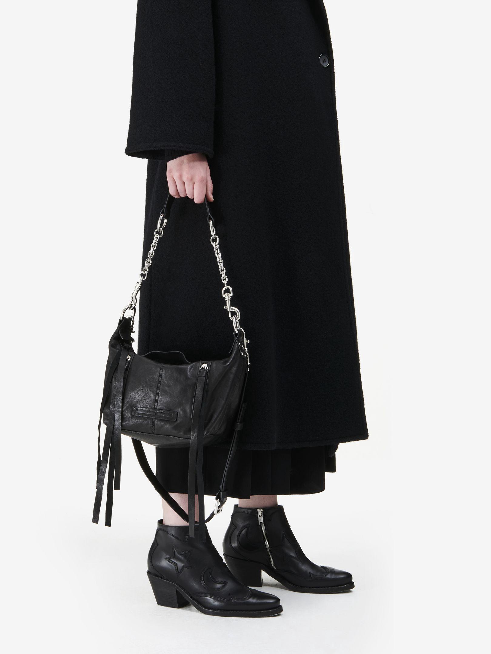1b457b636083d MCQ BY ALEXANDER MCQUEEN Loveless Mini Hobo Bag.  mcqbyalexandermcqueen   bags  shoulder bags  leather  hobo