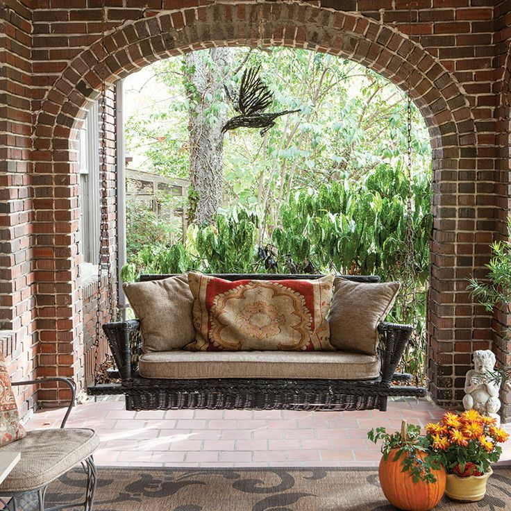as if a wicker porch swing wasn t charming enough placing on porch swing ideas inspiration id=51405