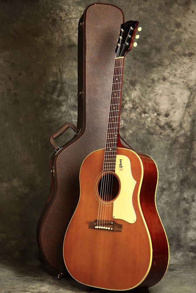 1968 Gibson J 45 Acoustic Guitar Vintage Cherry Red Free Shipping W HC
